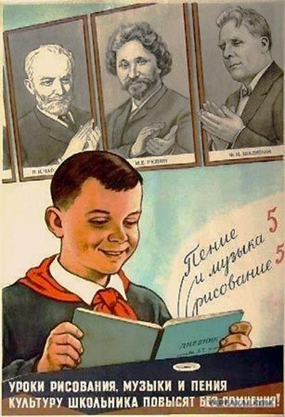 Рисование: школьные учебники СССР