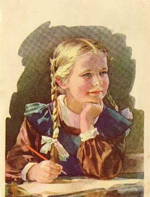 Ученица. Худ. С. Годына, 1956 г.
