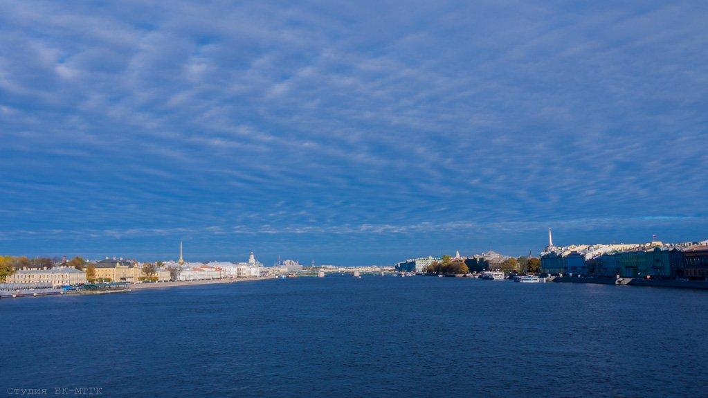 Нева и Дворцовый мост с Благовещенского моста