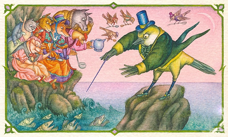 Картинка к басни крылова синица